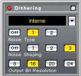 Dithering dans wavelab
