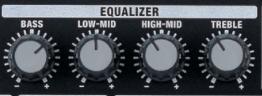 EQ simple 4 bandes à fréquences fixes