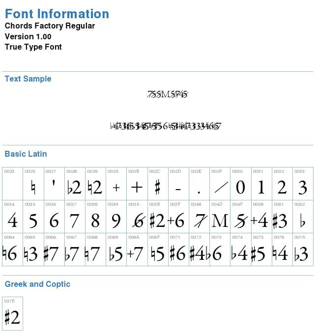 Chiffrage d'accords font information