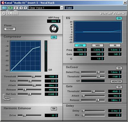 Yamaha Vocal rack