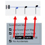 Intervalles réglage de l'affichage single line