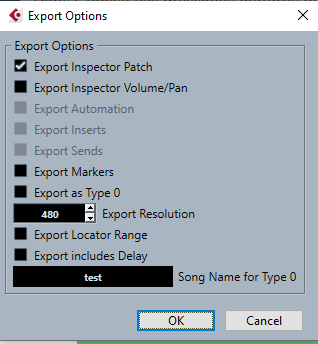 export midifile pour observer bank select
