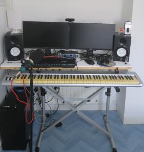 Home studio de confinement et de télétravail Avril 2021