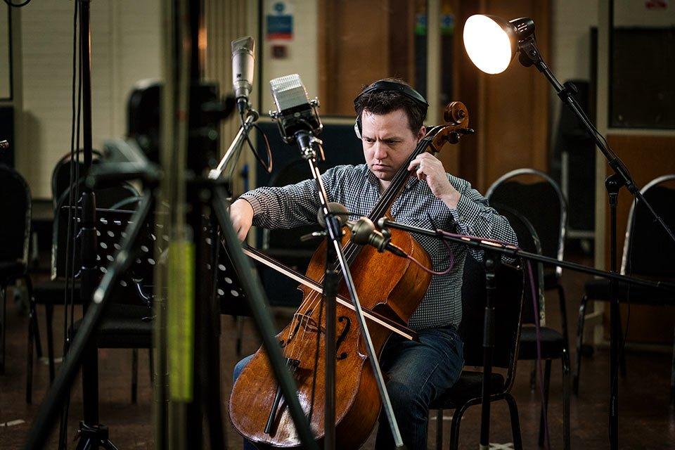 Spitfire recording cello source musicplayer.com
